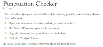 best online punctuation checker tools correctors garreston punctuation checker