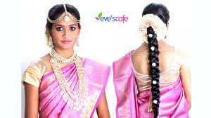 bridal makeup tutorial south indian bridal makeup traditional bridal hairstyles evescafe