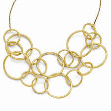 finish round multi strand necklace stock lf431 17