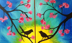 mommy me painting love birds