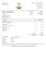 Legal Invoice Sample For Tax Purpose Template Excel Chaseevents Co