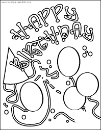free childrens birthday cards birthday greetings coloring pages google search coloring b