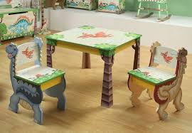 image of unique kids table chair