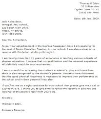 cover letter example 5 educational cover letters