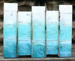 large wooden beach wall art