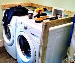 washer and dryer countertop over washer dryer build countertop over washer dryer