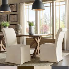 kitchen dining room chairs potomac slipcovered rolled back parsons chairs set of 2 by inspire q artisan