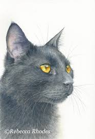 Bright Lights Big Kitty Poster How To Paint A Black Cat In Watercolor Watercolor Cat Cat