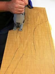 transfer reindeer pattern to wood