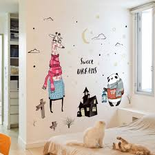 sweet dreams words phrases giraffe panda wall decal stickers kid room home decor