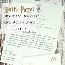 43 unique harry potter birthday party invitation wording graphics