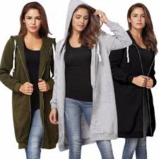 2018 5xl oversized winter coats women 2017 fashion long hooded sweatshirts coat casual pockets zipper solid outerwear hoos jacket from netecool