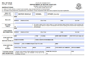 Bill Of Sale Dmv Free Connecticut DMV VehicleBoat Bill Of Sale H24 Form PDF 10