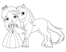 Disegno Di Principessa E Unicorno Da Colorare Acolorecom