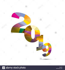 Happy New Year 2019 background.Colorful greeting card design.Vector ...