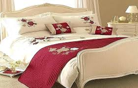 red and white bedding black