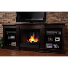 real flame valmont entertainment center ventless gel fireplace chestnut oak hayneedle