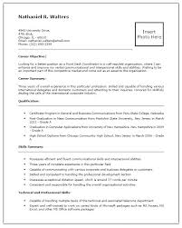 Front Office Resume New Service Desk Resume Best Resume Template Whizzme