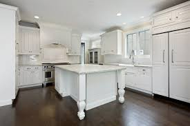White Kitchen With Dark Wood Floors Everything Home Design