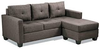 brown chaise sofa. Fine Brown Homelegance Phelps Contemporary Tufted Sectional Sofa With Reversible Chaise  Grayish Brown With Chaise E