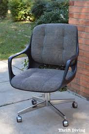 reupholster office chair. BEFORE And AFTER: Reupholster A Mid-century Modern Chair - Chromcraft Vintage MCM Office R