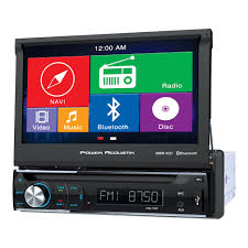power acoustik pdn 726b 7 single din in dash gps navigation power acoustik pdn 726b 7 single din in dash gps navigation motorized lcd touchscreen dvd receiver bluetooth walmart com