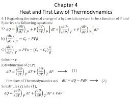 chapter 4 heat and first law of thermodynamics