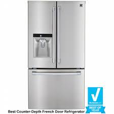 Best Cabinet Depth Refrigerator Kenmore Pro 79993 237 Cu Ft Counter Depth French Door
