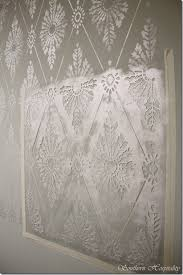 large wall stencils for paintingDiamond Damask Stencil HowTo Stencil a Wall  Southern Hospitality