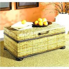 wicker storage coffee table brown trunk ottoman full size