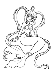Mermaid 46 Characters Printable Coloring Pages