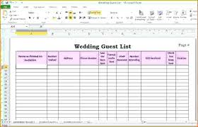 Wedding Guest List Template Excel Sample Google Docs 3 – Narrafy Design