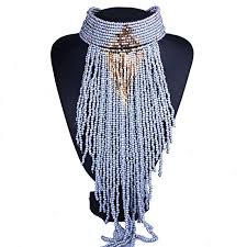 statement jewelry hand beaded long tassel pendant necklace multilayer color resin beads choker necklace for women necklace jewelry with 25 87 piece