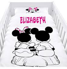 mickey and minnie mouse cot set baby