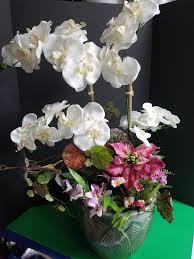 large orchids arificial plant