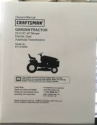 owner s manual sears craftsman 23 hp