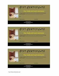 2018 format hotel gift certificate template