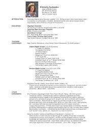 Pre Primary School Teacher Resume Sample Resume For Your Job