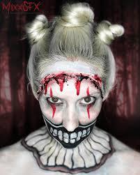 american horror story freak show twisty the clown makeup final results