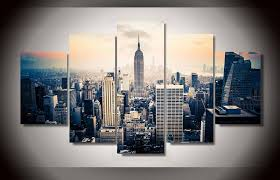 5 panels fashion new york city art paintings wall art 5 piece prints pictures canvas painting home decor artwork in painting calligraphy from home  on new york city skyline canvas wall art with 5 panels fashion new york city art paintings wall art 5 piece prints