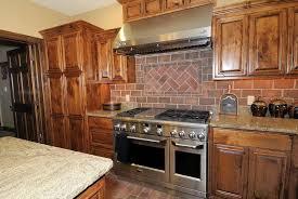 Faux Brick Tile Backsplash In The Kitchen