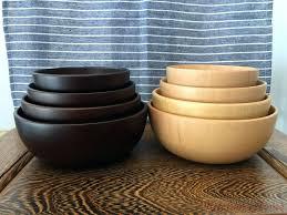 china mixing bowl fir wooden salad fruit soup rice coloured bowls