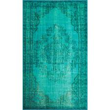 nuloom vintage inspired overdyed turquoise 9 ft x 12 ft area rug dire1d 920165 the home depot