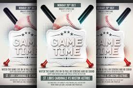 Baseball Brochure Template Baseball Game Flyer Template By Hotpin On Creative Market
