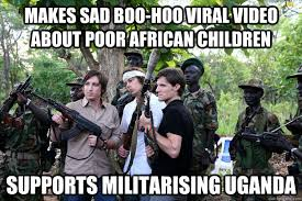 Makes sad boo-hoo viral video about poor African children Supports ... via Relatably.com