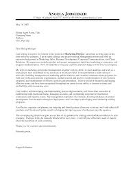 Marketing Manager Cover Letter Examples News