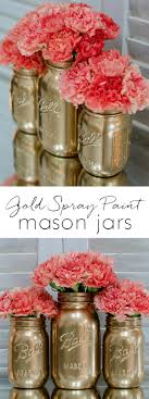 Mason Jar Projects How To Spray Paint Jars Mason Jar Crafts Craft And Spray Painting