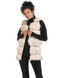 latest women faux fur vest coat luxury fashion fox fur coat jackets winter warm fur vest