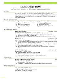 Resume Template Mac New 55 Standard Resume Templates For Mac