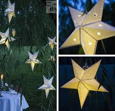 diy paper star lantern diy outdoor lantern ideas